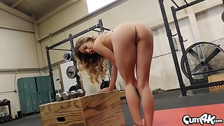 amazing Naomi Swann adores man juice in her mouth and on her shaved pussy
