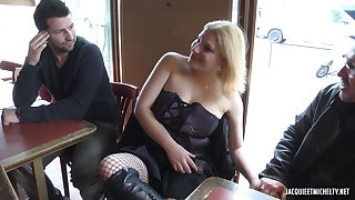 French Chubby MILF Hot Gangbang Video