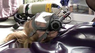 Crazy sexy breath control in a vacbed