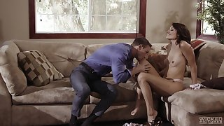 Dick-riding Adria Rae gives in to the heat of the moment