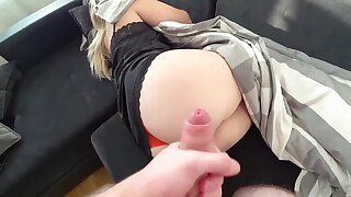 Ample culo gal is getting her daily portion of poke and a internal cumshot, in the end