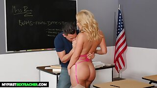 Savannah Bond is a supah super-steamy, ash-blonde educator well known for drilling her schoolgirls, in the classroom