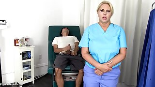 Sensuous, blondie nurse is using every chance to get screwed, even if she is at work