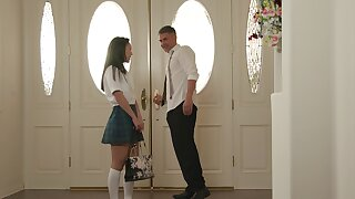 Asian college chick gets fucked by her teacher - Kimmy Kimm