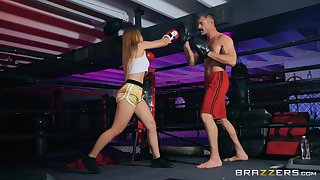 Boxing babe Sloan Harper pounded hardcore in make an issue of ring