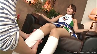 Japanese toddler Kashii Ria gets pounded doggy style in a miniskirt
