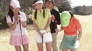 Japanese youthfull nude femmes enjoyment plus games golf plus do some steamy overstuff afterwards sextube