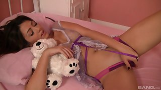 Sensual lesbian teen pussy licking with Candy Manson and Cassie Laine